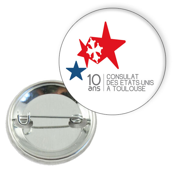 Exceptionnel Badge professionnel personnalise 32mm - epingle ML75