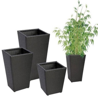 Cache pot en aluminium for Plante pot exterieur