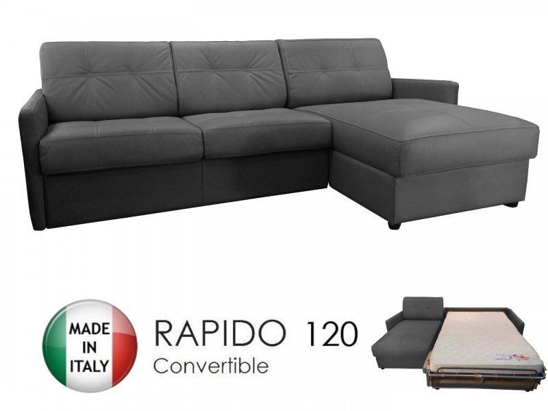 canape d 39 angle reversible ouverture rapido cube 120 cm coffre tissu microfibre gris graphite. Black Bedroom Furniture Sets. Home Design Ideas