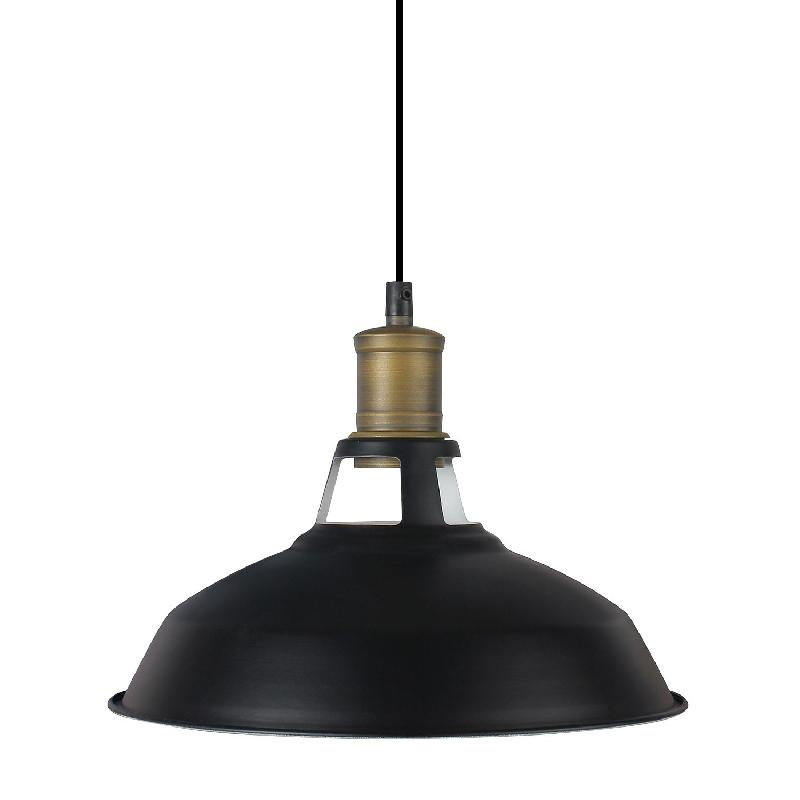 Lampe Suspendue Industrielle Metal Noir Edition Brooklyn