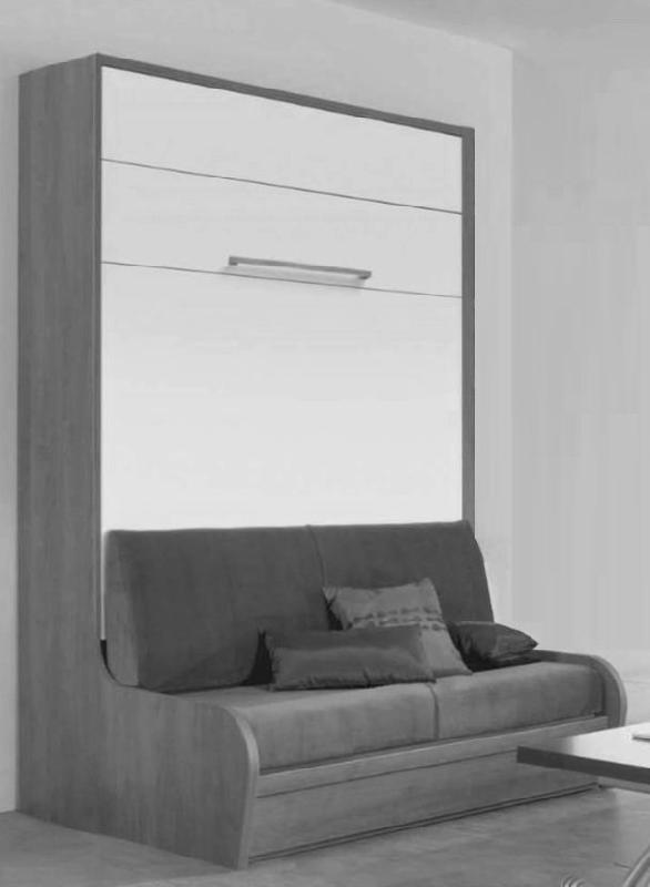 armoire lit mural avec canape campus jacquelin agencement couchage 140 cm. Black Bedroom Furniture Sets. Home Design Ideas