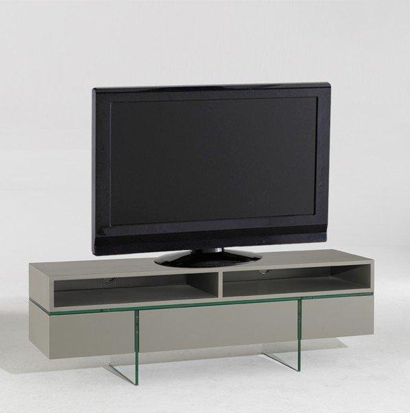 Nova Meuble Tv Avec Niches Et Tiroirs Couleur Taupe Mat Pietement En