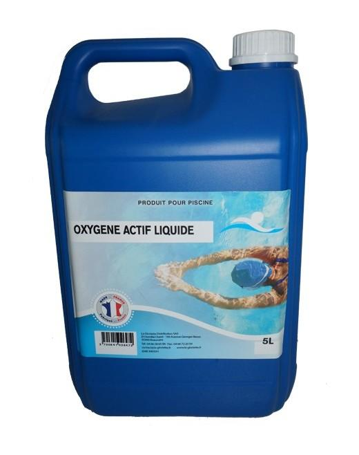Traitement oxygene actif top oxygne actif liquide choc for Traitement piscine oxygene actif