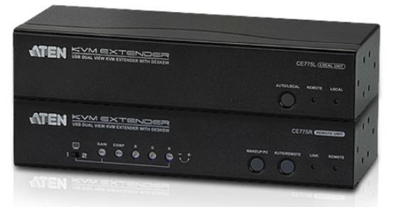 Ce775 - déport kvm vga câbles cat.5e/6 usb / mini-jack / rs-232