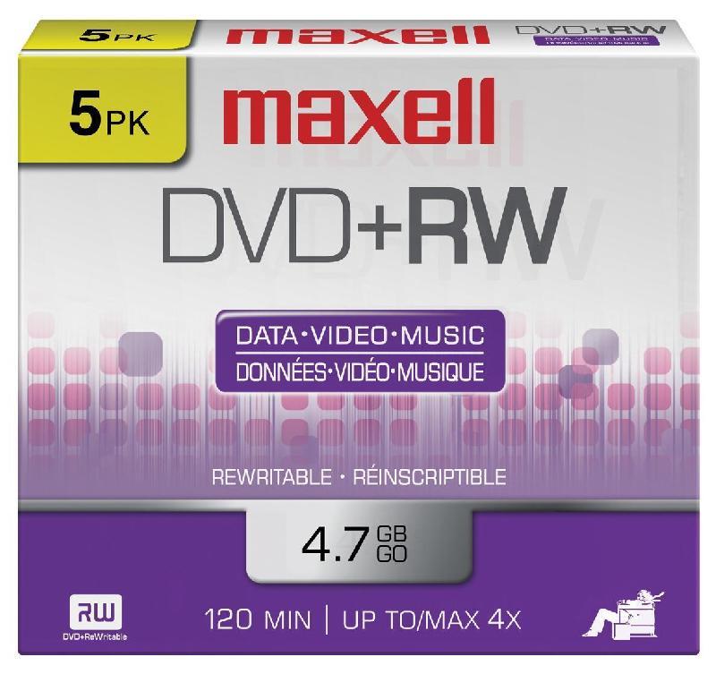 Lot de 5 dvd maxell 120 mn
