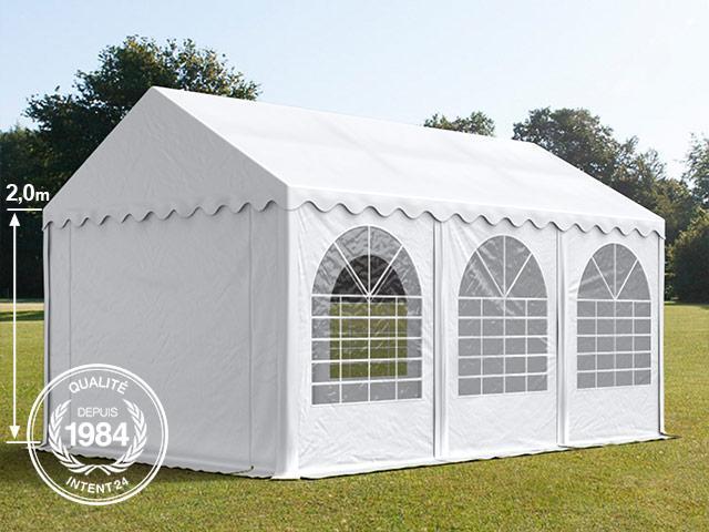 3x6m tente de reception pvc h 2m blanc toolport gmbh. Black Bedroom Furniture Sets. Home Design Ideas