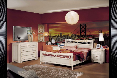 Aurora new blanche chambre a coucher complete lit 160 for Chambre a coucher blanche complete