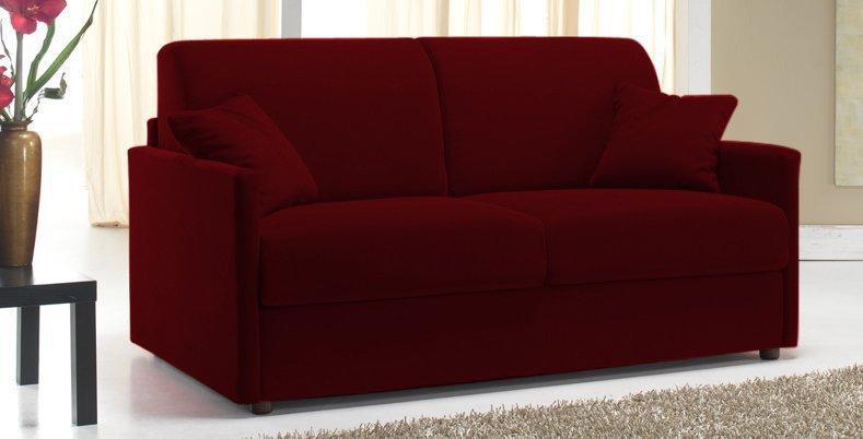 canape lit 2 3 places sun convertible ouverture rapido 120cm microfibre bordeaux. Black Bedroom Furniture Sets. Home Design Ideas