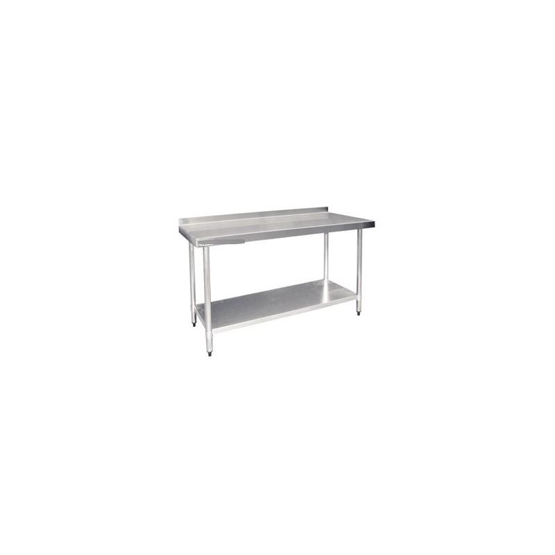 Table de travail inox professionnelle 1500mmx700mmx900mm for Table cuisine professionnelle inox