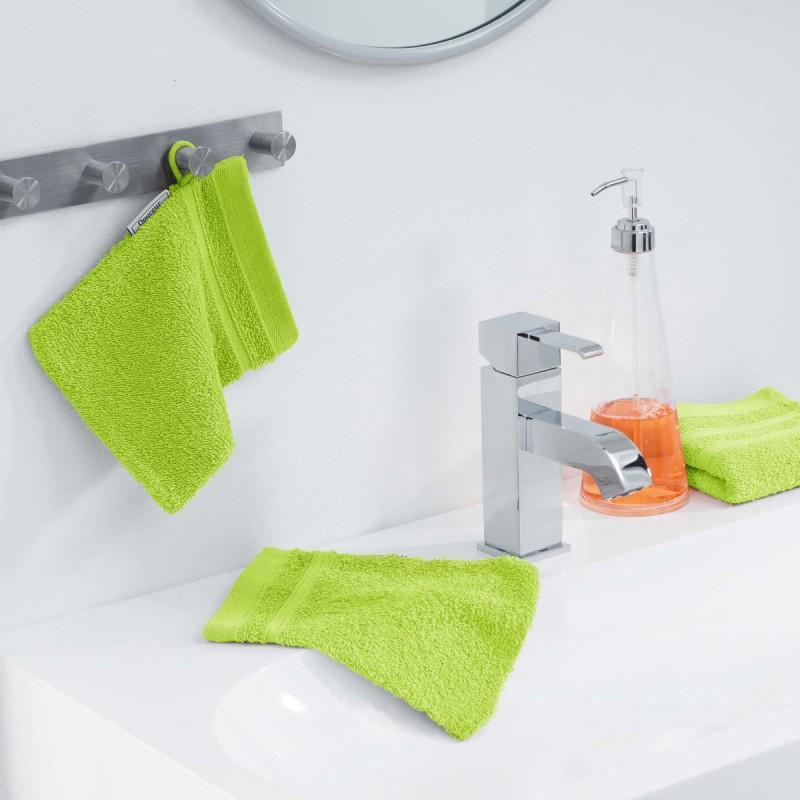 Lot de 2 gants de toilette vitamine 15x21cm vert anis - paris prix