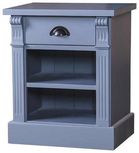 table chevet 1 tiroir 2 niches en bois massif 39 39 cornouailles 39 39 comparer les prix de table chevet. Black Bedroom Furniture Sets. Home Design Ideas