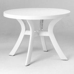 Table d 39 ext rieur stamp achat vente de table d for Table de jardin ronde en resine blanche