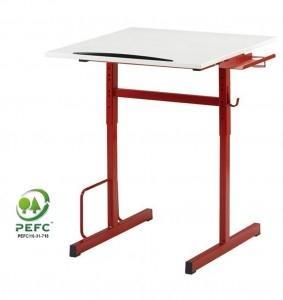 Table stratifié 21mm - 70cm x 58cm- chant polyuréthane