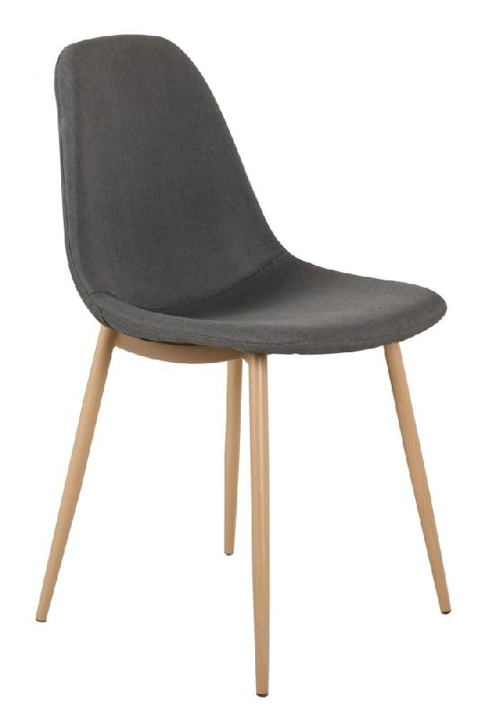 Chaise stockholm design scandinave tissu graphite