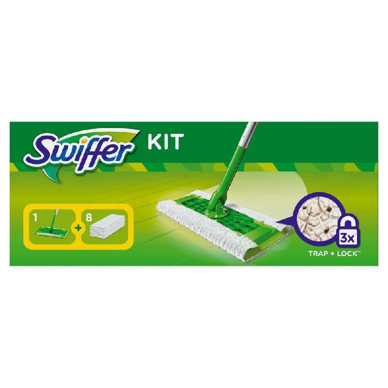KIT BALAI SWIFFER + 8 RECHARGES