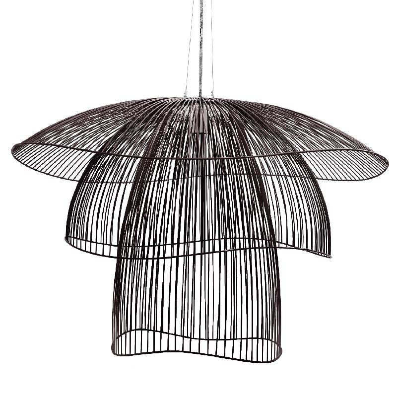 papillon suspension fil de fer noir 100cm suspension forestier design par elise fouin. Black Bedroom Furniture Sets. Home Design Ideas
