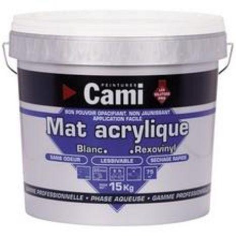 peinture mat acrylique blanc 10 litres cami 0977 comparer les prix de peinture mat acrylique. Black Bedroom Furniture Sets. Home Design Ideas