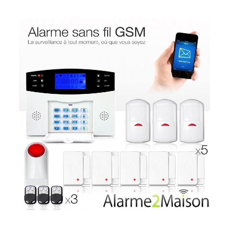 Alarme maison sans fil gsm 4 5 pi ces sir ne for Sirene alarme exterieure sans fil