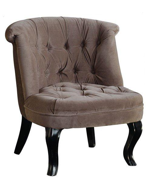 fauteuil capitonne design versailles velours taupe. Black Bedroom Furniture Sets. Home Design Ideas