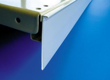 reglette porte etiquette dbr avec encoche en c a coller 80 mm transparent ruban adhesif. Black Bedroom Furniture Sets. Home Design Ideas