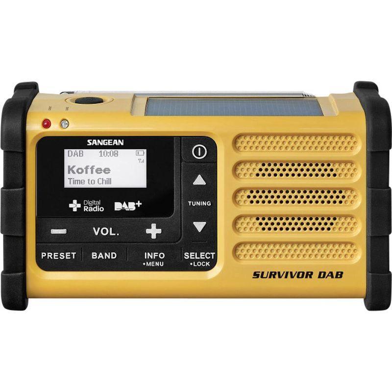 RADIO D'EXTÉRIEUR SANGEAN SURVIVOR DAB JAUNE S374601