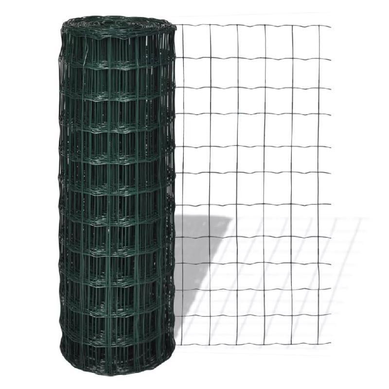 Vidaxl clôture euro acier 25 x 2,0 m vert