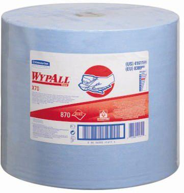WYPALL CHIFFONS DE NETTOYAGE 8389 LARGE ROLL BLUE