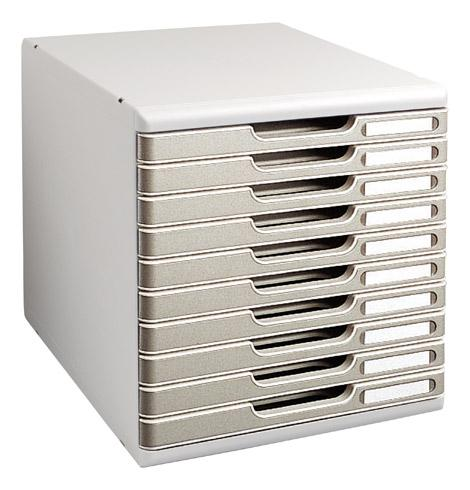 module de classement exacompta modulo 10 tiroirs couleur exacompta comparer les prix de module. Black Bedroom Furniture Sets. Home Design Ideas