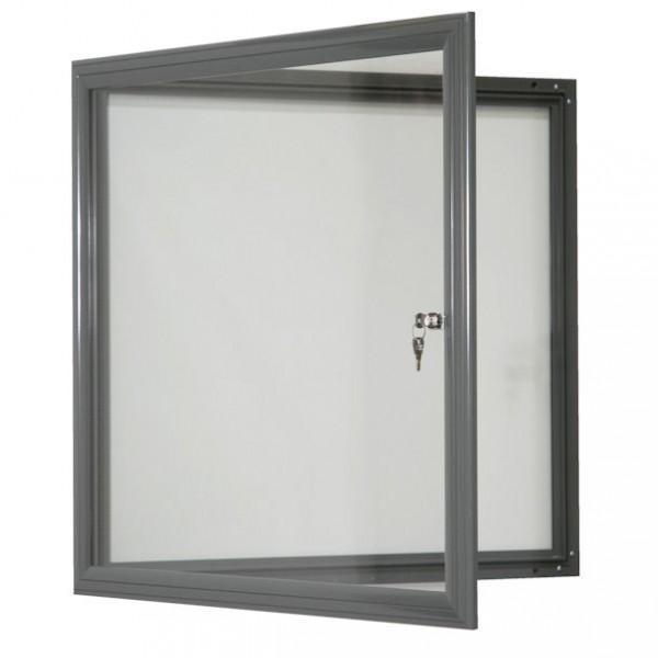 Vitrine fine d 39 exterieur gris vitre plexi for Vitrine exterieur