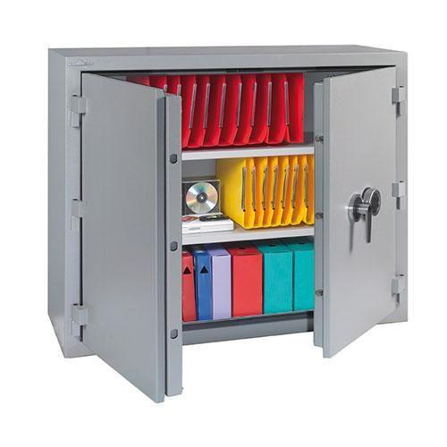 armoire forte a cle ignifuge 30min 660 l 4 etageres. Black Bedroom Furniture Sets. Home Design Ideas