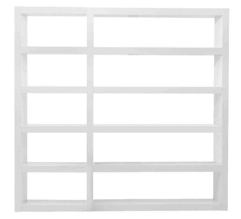 denso etagere haute h214 x l226 cm blanc brillant. Black Bedroom Furniture Sets. Home Design Ideas