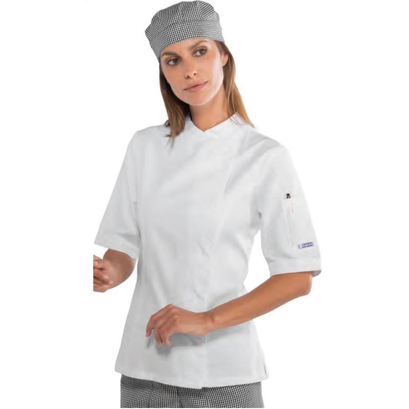 Hauts de travail comparez les prix pour professionnels sur page 1 - Veste cuisine femme manche courte ...