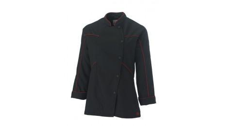 veste de cuisine femme azotshow black molinel tailles vetements 4xl. Black Bedroom Furniture Sets. Home Design Ideas