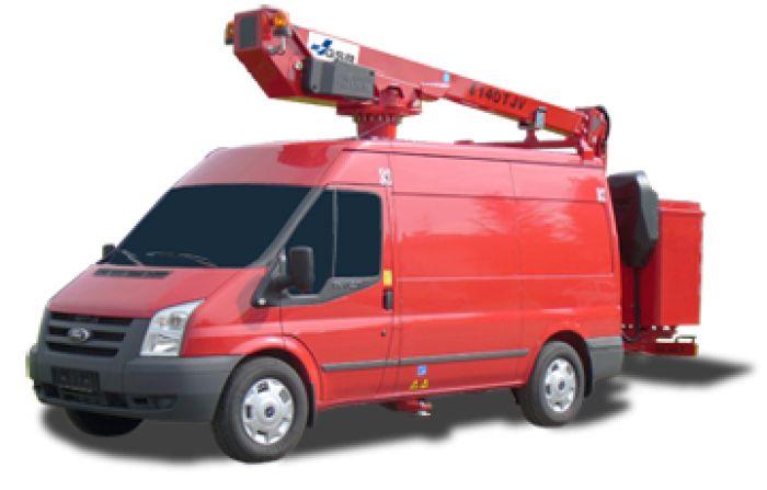 E140tjv - fourgon nacelle - gsr - hauteur de travail14.4 m