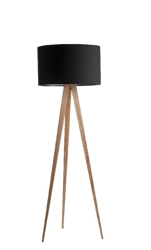 Lampadaire design tripod wood (2 coloris)