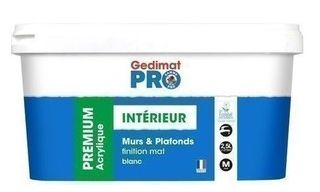 Peinture Pour Mur Et Plafond Acrylique Certifié Ecolabel Gedimat 2 5l Coloris Blanc Mat