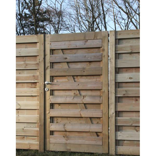 Portillon plein extra / droit / en bois / 1000 x 1800 mm