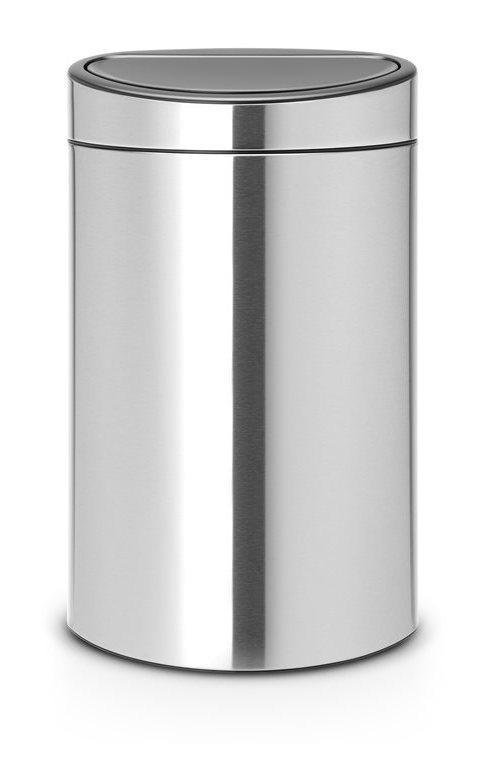 poubelle brabantia touch bin 40 l comparer les prix de. Black Bedroom Furniture Sets. Home Design Ideas