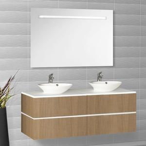 creazur ensemble meuble salle de bain miroir 2 vasques rondes harmonia h7 chene 3101398 Résultat Supérieur 13 Impressionnant Meuble Salle De Bain 2 Vasques Image 2017 Sjd8