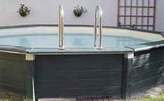 Piscine en kit tous les fournisseurs piscine hors sol for Piscine acier grise