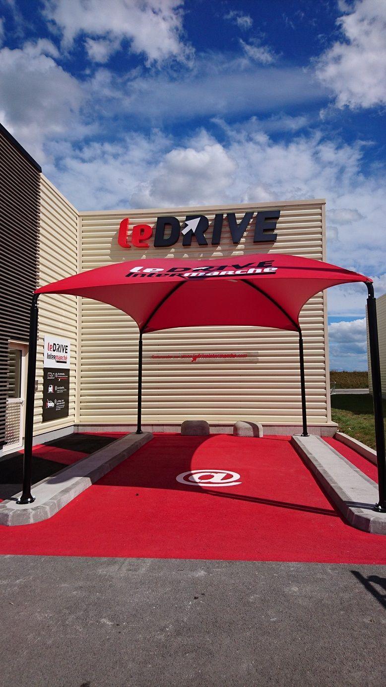 Abri voiture autoportant c1 / structure en acier / toiture arrondie en toile