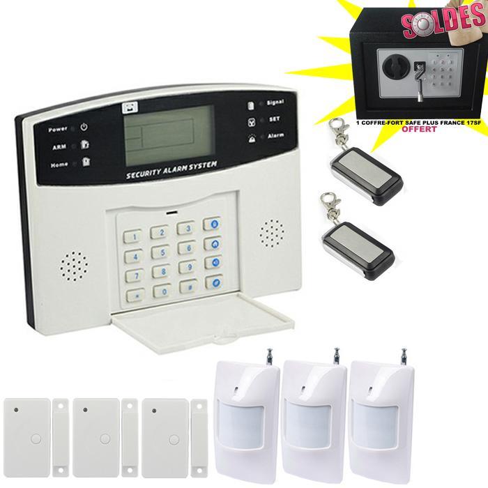 Alarme maison sans fil et filaire avec transmetteur gsm for Alarme maison avec telesurveillance