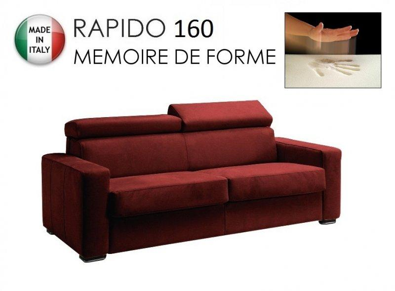 canape rapido sidney deluxe memory matelas 160 14 190 cm memoire de forme cuir vachette bordeaux. Black Bedroom Furniture Sets. Home Design Ideas