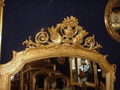 Miroir ancien glace napoleon iii ref 678 2 - Prix d un miroir ancien ...