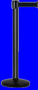 Poteau Alu Noir laqué à sangle Noir 4m x 50mm sur socle portable - 2053822