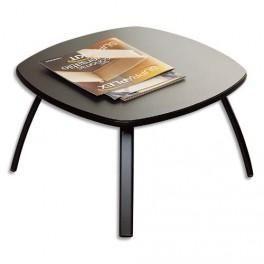 MOBILIER TABLE BASSE NOIR, 4 PIEDS ÉPOXY ALUMINIUM, PLATEAU ANTHRACITE 61.1 X 35.6 X 61.1