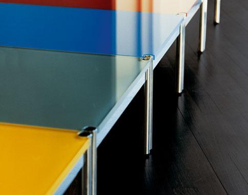 table verre couleur
