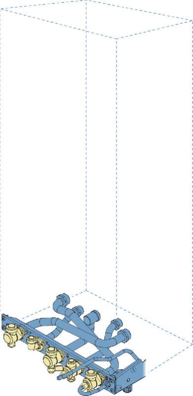 Plaque de pr/éinstallation standard dosseret pour chaudi/ère NGLA//NGVA