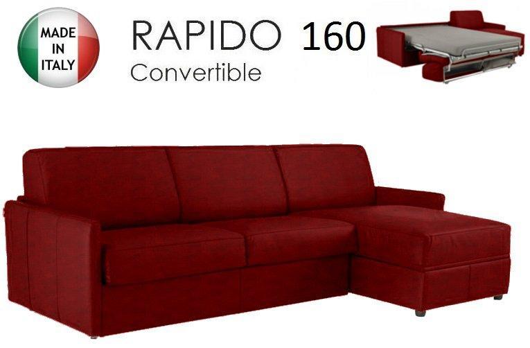 Canape d 39 angle sun convertible ouverture rapido 160cm tissu microfibre b - Canape d angle bordeaux ...
