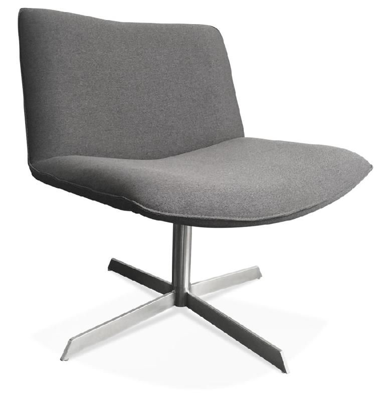 fauteuil design pivotant 39 bakou 39 en tissu gris comparer les prix de fauteuil design pivotant. Black Bedroom Furniture Sets. Home Design Ideas